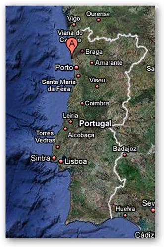 mapa portugal vila do conde Mapa de Portugal Vila do Conde no Google mapa portugal vila do conde